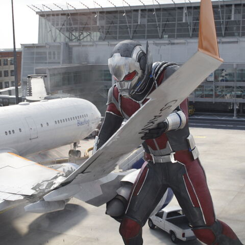 Image result for marvel giant-man airplane wing