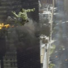 Hulk jumping.