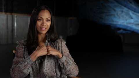 "Guardians of the Galaxy Vol. 2 Zoe Saldana ""Gamora"" Behind the Scenes Movie Interview"
