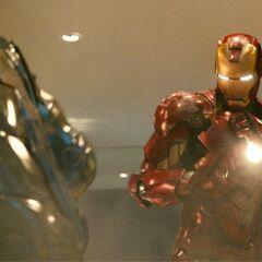 Tony fighting Rhodey.