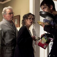 Another of Martin Sheen and Sally Fields as Uncle Ben and Aunt May with Garfield's Peter.