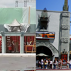 Construction of the Chinese theatre set.