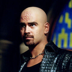 Colin Farrell as Bullseye in <i>Daredevil</i> (2003).