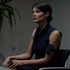 Maria Hill applying to a job at Stark Industries.