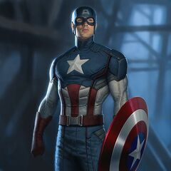 Promotional art Concept by Charlie Wen of Captain America from Marvel's
