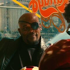 Tony meets with Nick Fury.