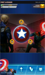 First Avenger Event Screen