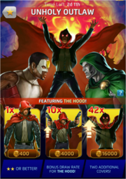 Unholy Outlaw Comic (Season VII) Offer