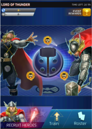 Lord of Thunder Event Screen