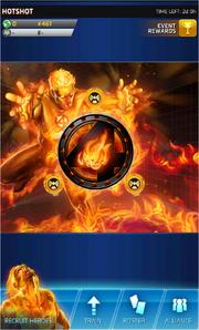 Hotshot Event Screen