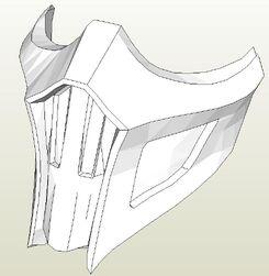 Mortal Kombat 9 Noob Saibot's Mask Papercraft