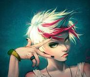 Anime,artistic,blonde,hair,blue,design,digital,girl,illustration,painting,style-7f1639fc8d976025ecaa7307d9aea5f9 m