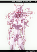 Commission lady ultron by turtlechan-d2yvf2n