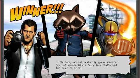 UMVC3 Rocket Raccoon Quotes