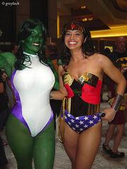 She-hulk & wonder woman