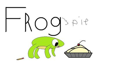 Frog& his pie (not my character, again)
