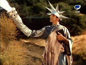 MASH episode-3x21 Klinger as Lady Liberty