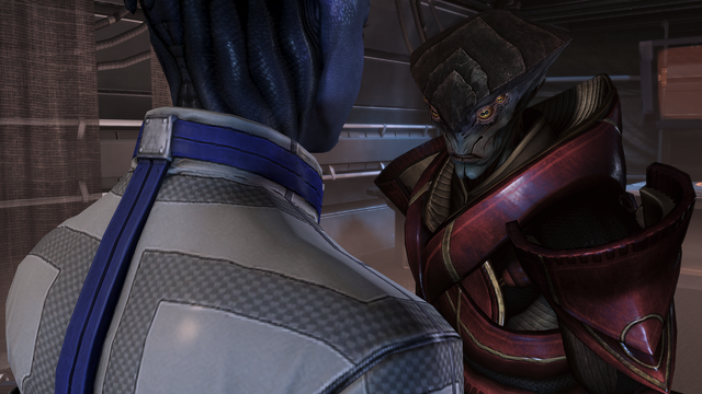 File:Liara-javik confrontation - friendly resolution.png