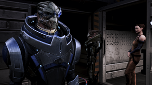 Garrus at the refugee docks