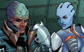Liara and Feron meet Cerberus