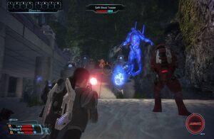 Combate en Mass Effect (versión de PC)