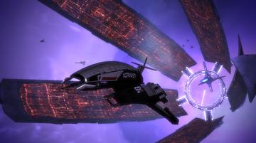 SSV Normandy kiitää Destiny Ascensionia ja Linnaketta pakoon.