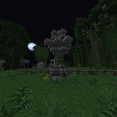 Pillar of a jungle temple