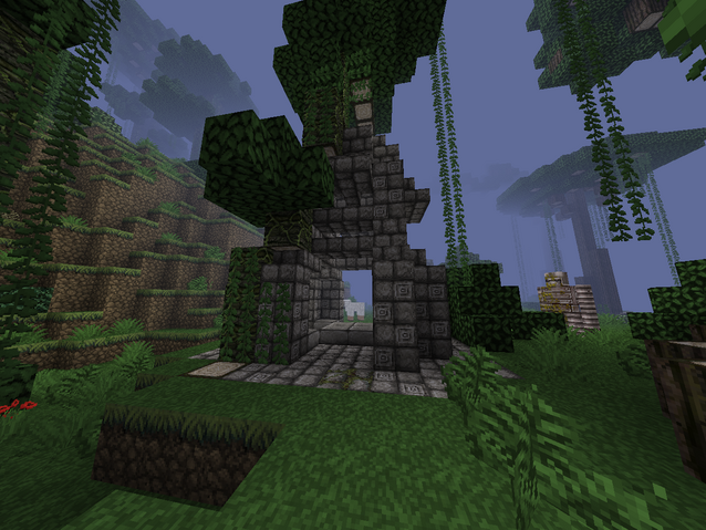 File:Jungle temple with tree and golem.png