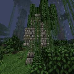 A big jungle statue