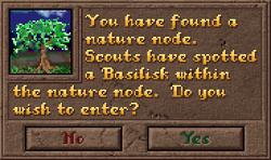Encounter NatureNode Dialog