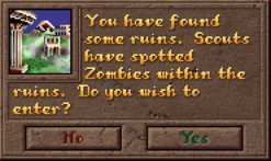 Encounter Ruins Dialog