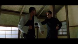 Matrix Wiki Seraph against Neo