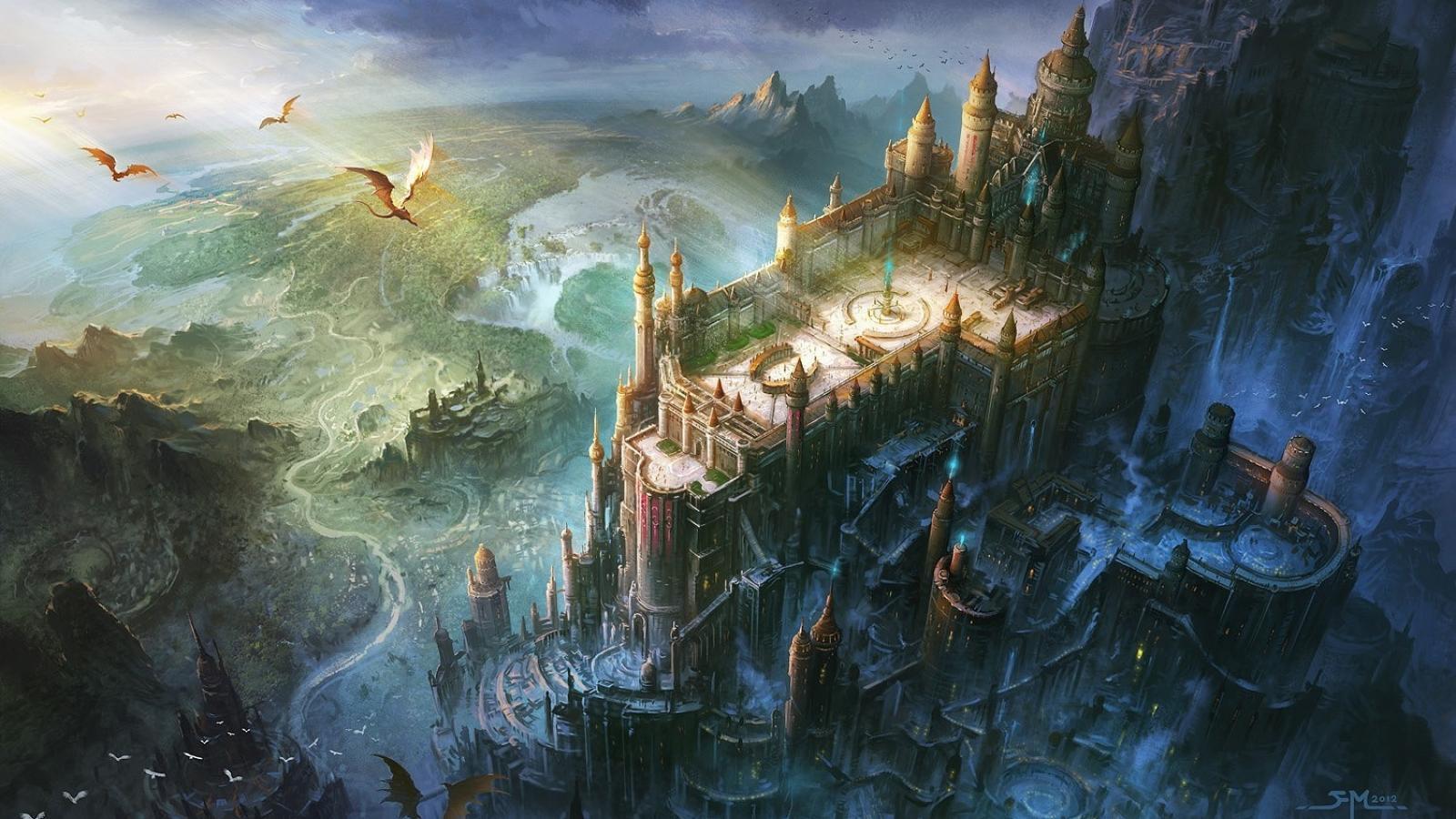 Image - Fan ming artwork castles cities dragons 1600x900 83739.jpg ...