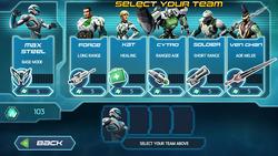 Turbo Tactics - Select Screen