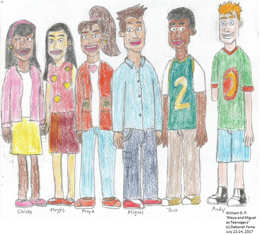 File:Maya and Miguel Characters as Teenagers 1st Attempt colored.png