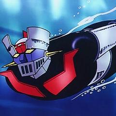 Mazinger using the Photon Rockets