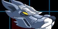 Blue Wolf Head