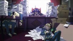 An exhausted Zenkichi and Akune