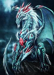 White dragon and jewls