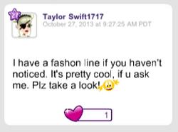 TayTay has a fashion line in 2013
