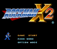 Rockman X2 Title Screen