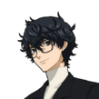 P5 portrait of the Protagonist with glasses