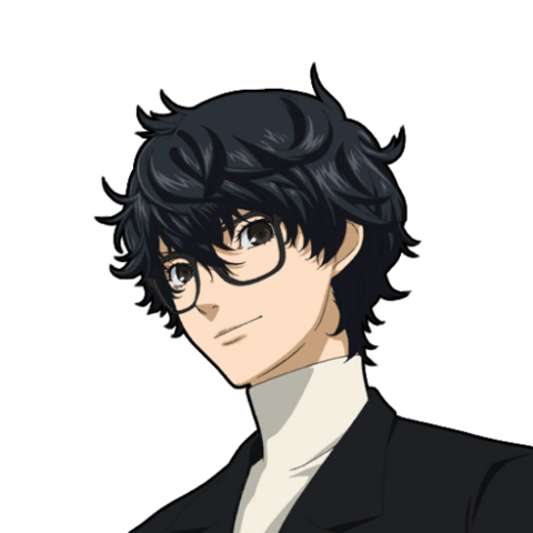 File:P5 portrait of the Protagonist with glasses.png
