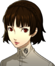 P5 portrait of Makoto Nijima's summer school uniform