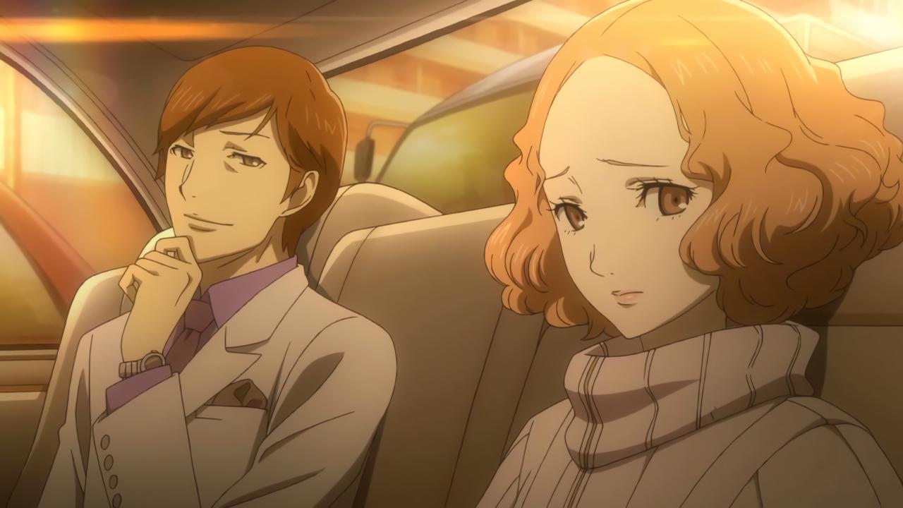 File:P5 Famitsu Scan Haru talking to someone.jpg