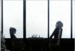 Young Yamato plays chess with Alcor