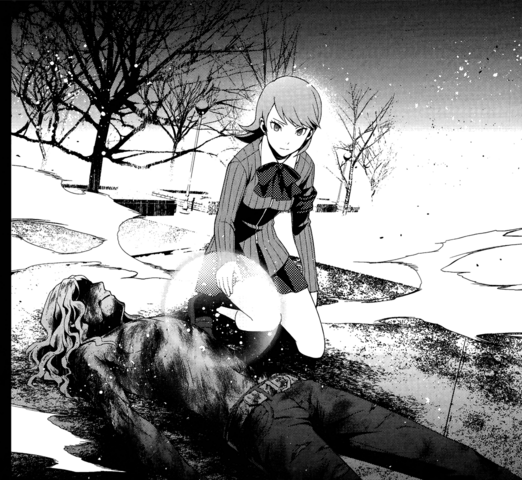 File:P3 manga Takaya's burnt body after being burn alive by Trismegistus.png