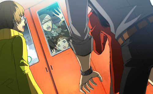 File:P4AU (P4 Mode, Nanako accidently get inside the train with Yu).png