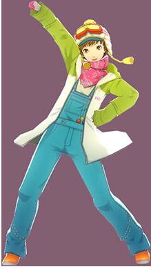 File:P4D Chie Satonaka snow suit DLC outfit change.PNG