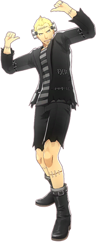 File:P4D Kanji Tatsumi halloween outfit change.PNG